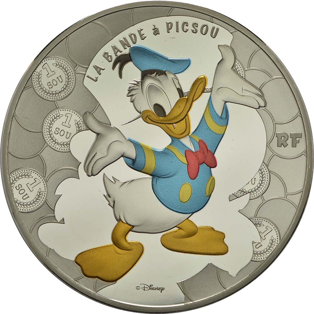 Vorderseite:Frankreich : 10 Euro Dagobert Duck / Scrooge McDuck  2017 PP