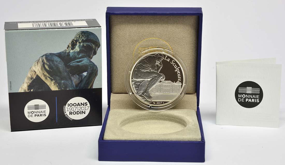 Frankreich : 10 Euro Auguste Rodin  2017 PP