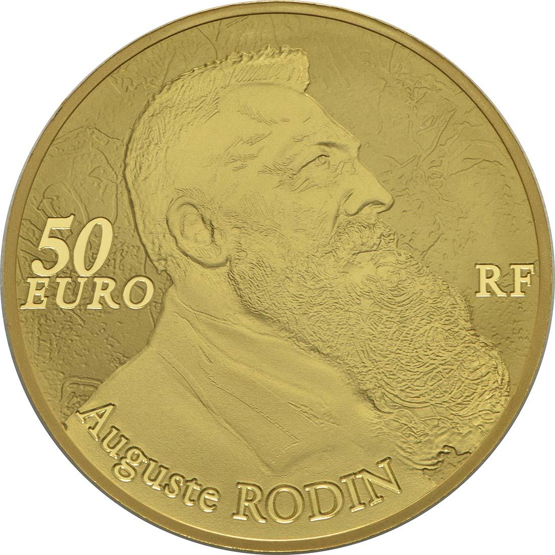 Rückseite :Frankreich : 50 Euro Auguste Rodin  2017 PP