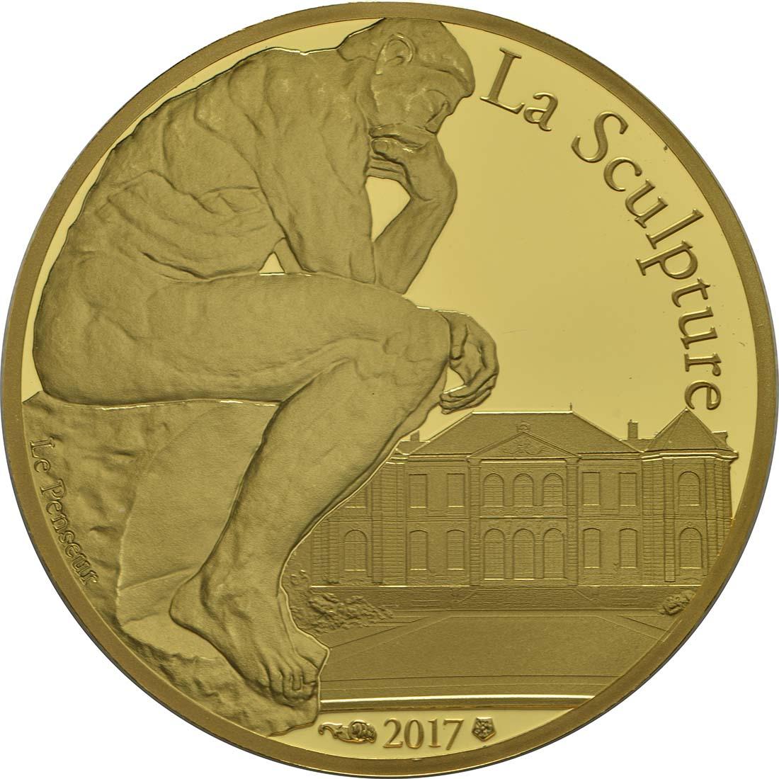 Vorderseite :Frankreich : 50 Euro Auguste Rodin  2017 PP
