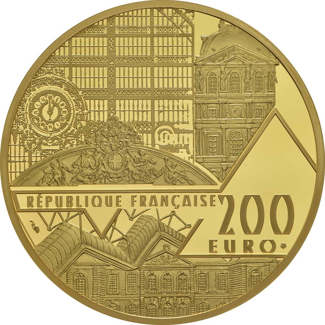 Rückseite :Frankreich : 200 Euro Venus von Milo  2017 PP