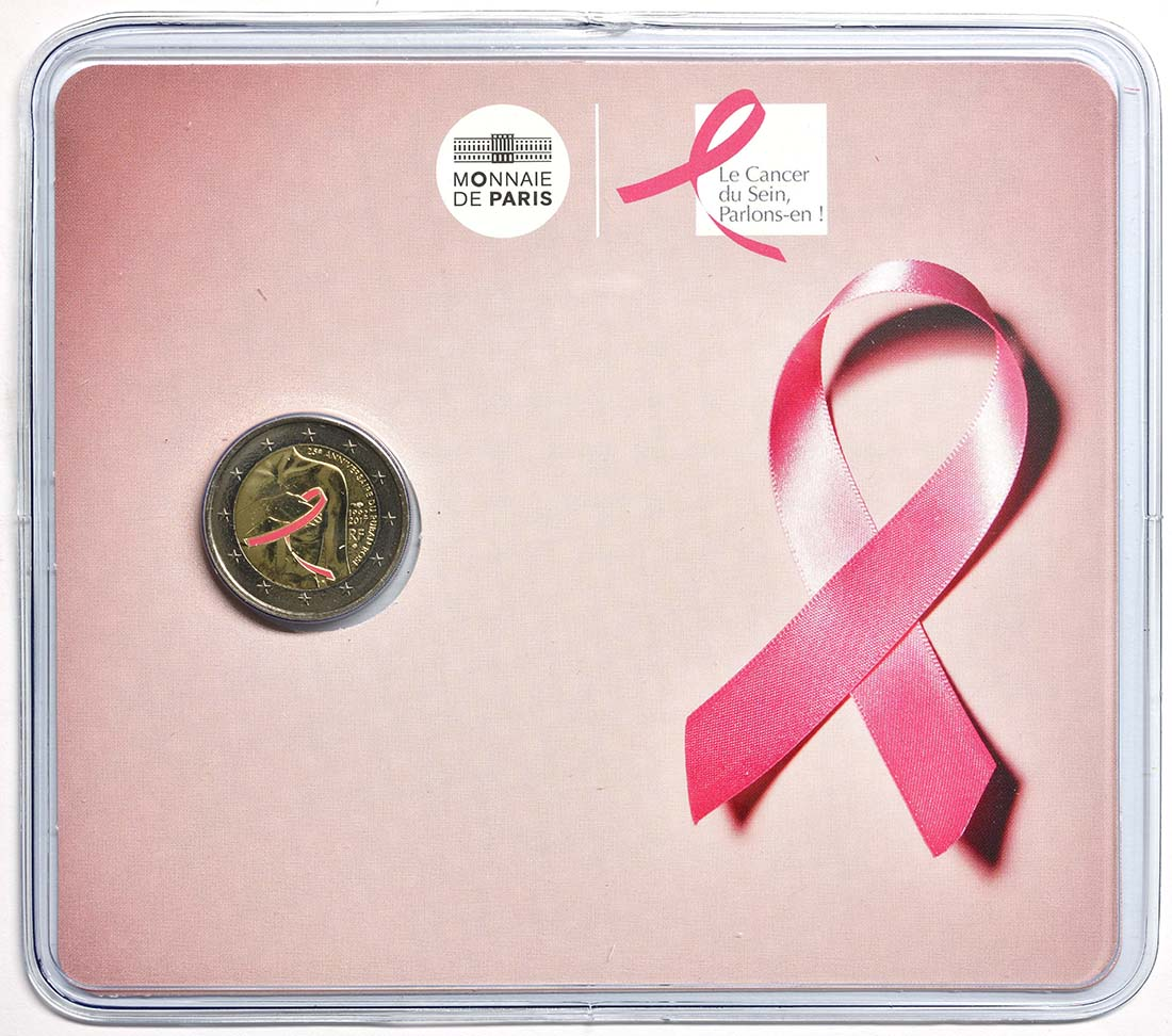 Lieferumfang:Frankreich : 2 Euro Kampf gegen den Brustkrebs  2017 Stgl.