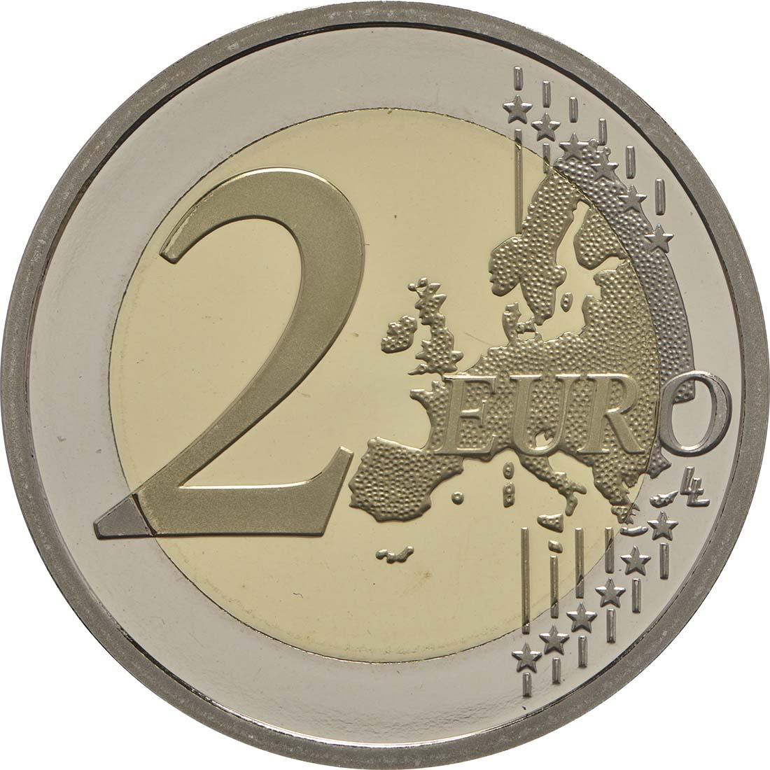 Vorderseite:Frankreich : 2 Euro Kampf gegen den Brustkrebs  2017 PP