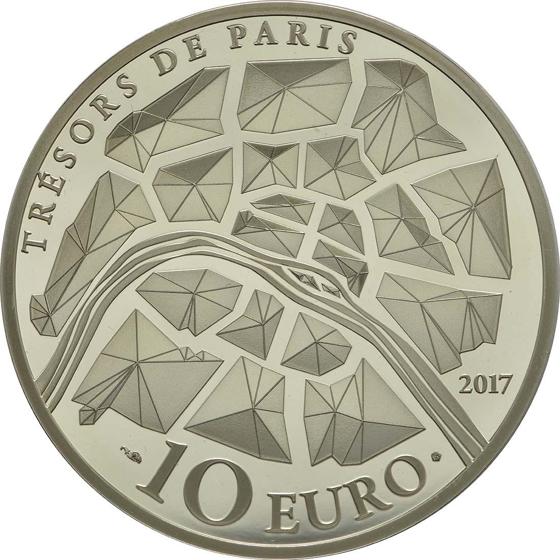 Rückseite:Frankreich : 10 Euro Génie de la Bastille  2017 PP