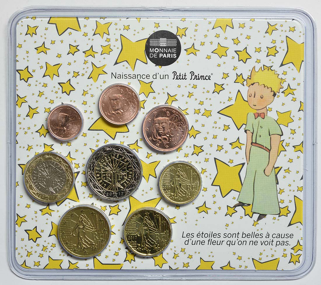 Frankreich : 3,88 Euro Mini KMS Baby Jungen  2017 Stgl.