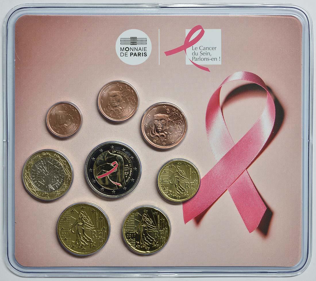 Frankreich : 3,88 Euro Mini KMS Kampf gegen den Brustkrebs  2017 Stgl.