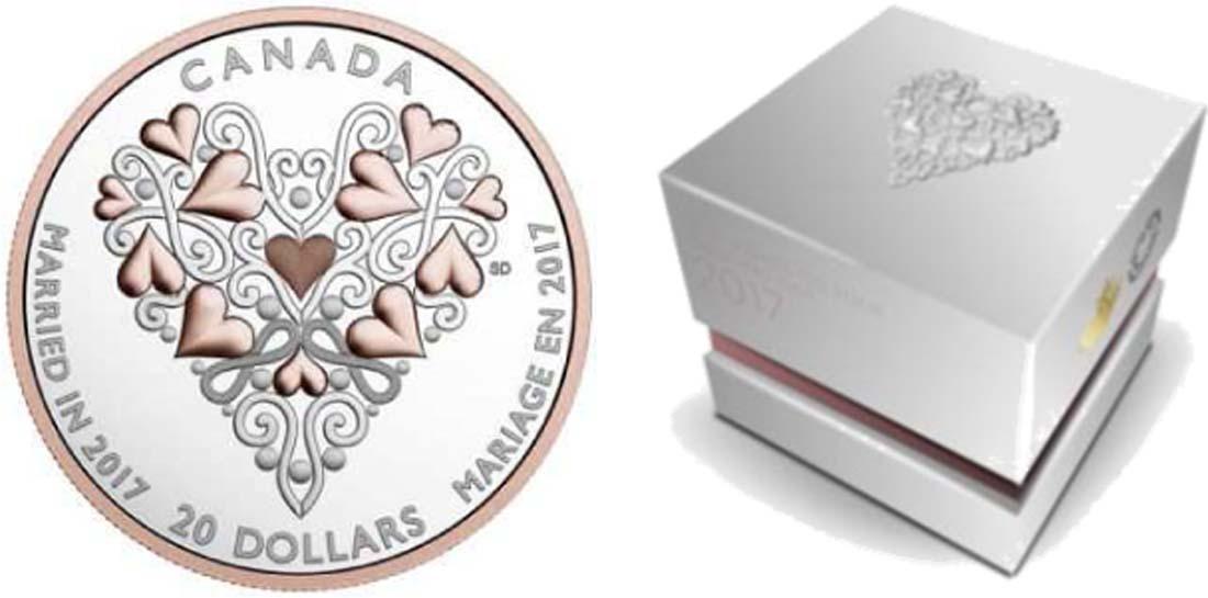 Lieferumfang:Kanada : 20 Dollar Glückwünsche zur Hochzeit  2017 PP