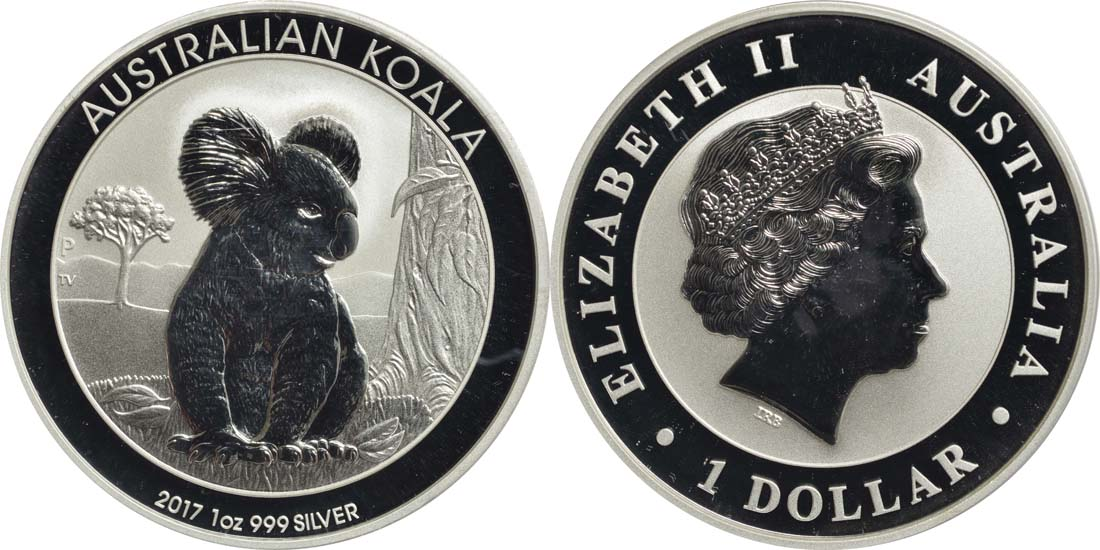 australien 1 dollar koala 2017 silber stgl euro. Black Bedroom Furniture Sets. Home Design Ideas