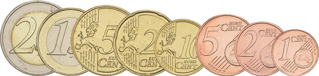 Vorderseite :Luxemburg : 3,88 Euro 1+2+5+10+20+50 Cent+1 Euro+2 Euro  2017 bfr
