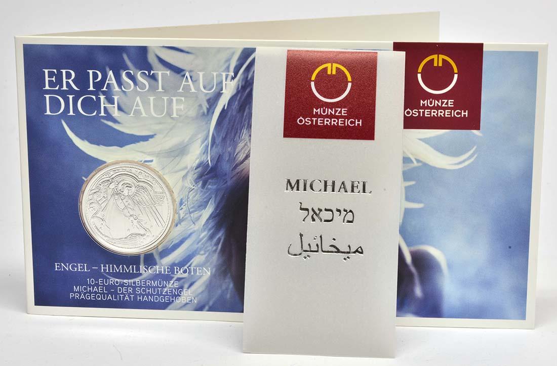 Lieferumfang:Österreich : 10 Euro Michael - der Schutzengel  2017 Stgl.