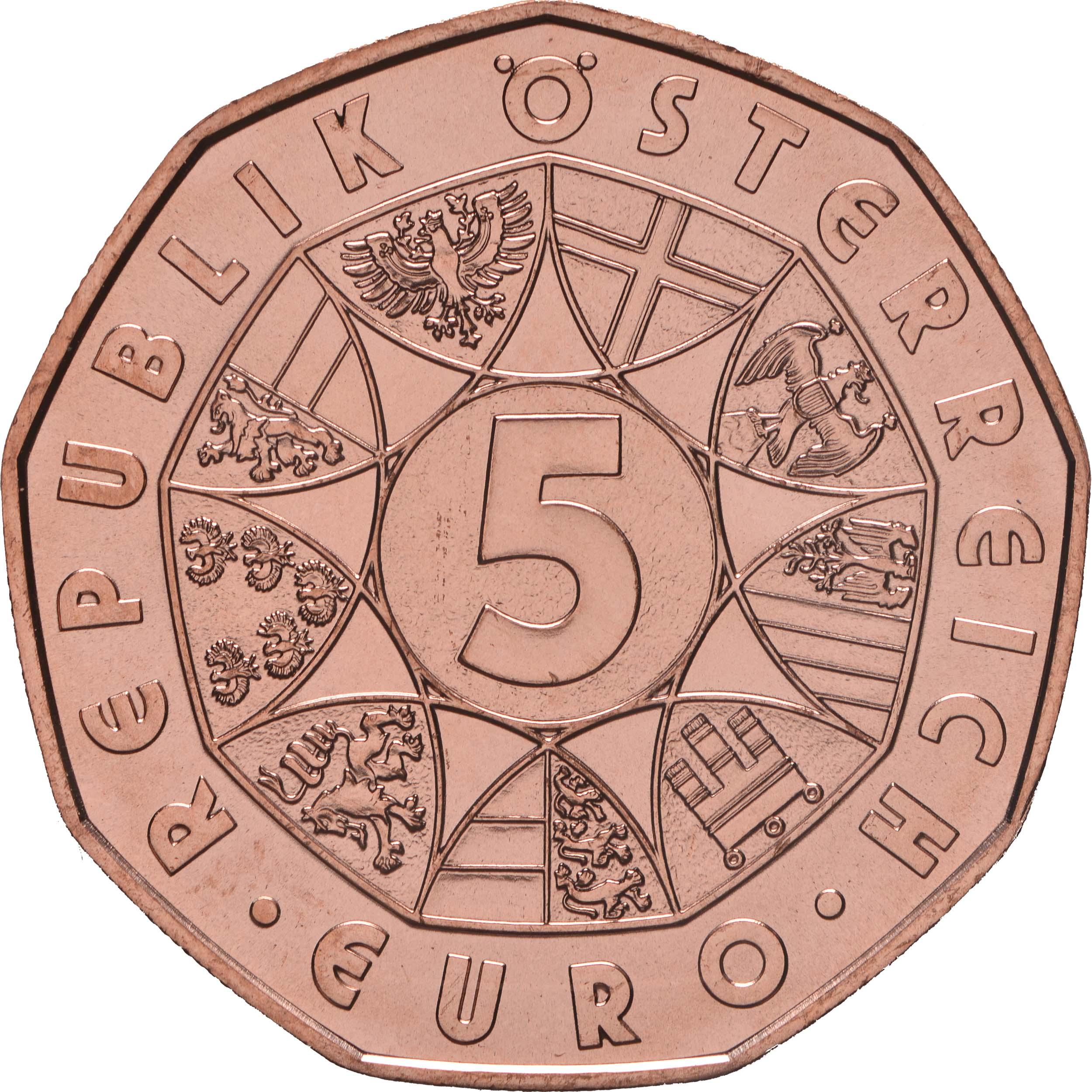Rückseite :Österreich : 5 Euro Osterlamm  2017 Stgl.