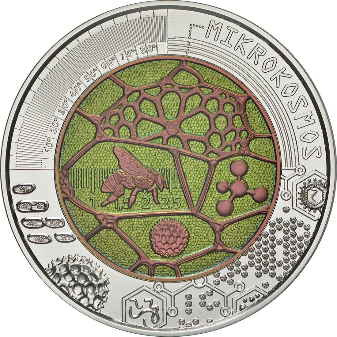 25 Euro Mikrokosmos 2017 Niob Münze aus Österreich