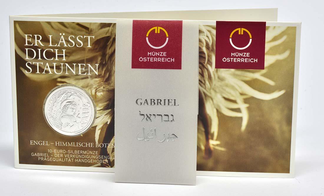 Österreich : 10 Euro Gabriel - der Verkündigungsengel-  2017 Stgl.