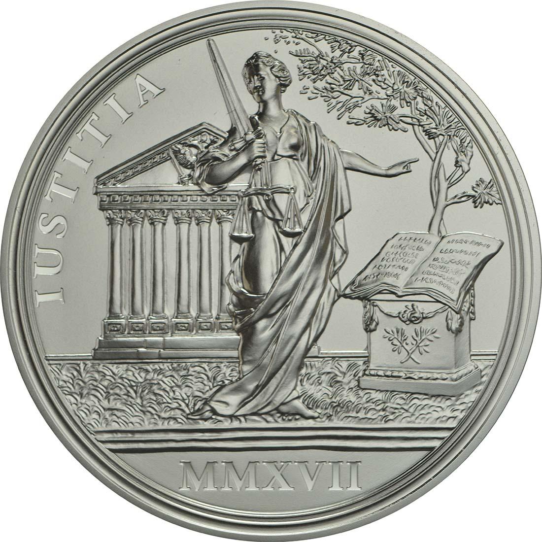 Rückseite :Österreich : 20 Euro Gerechtigkeit und Härte  2017 PP
