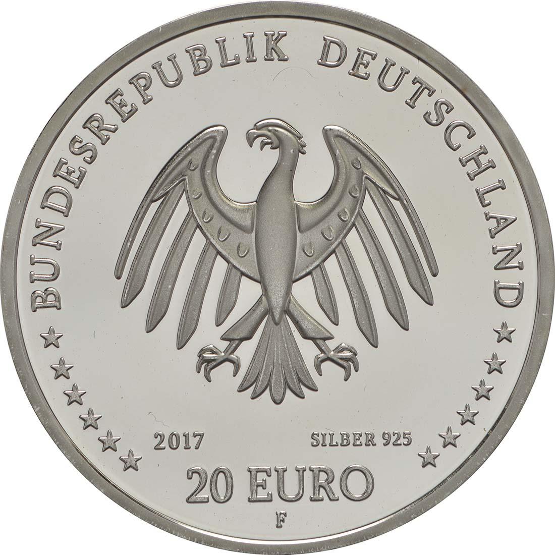 Rückseite :Deutschland : 20 Euro 300. Geburtstag Johann Joachim Winckelmann  2017 PP