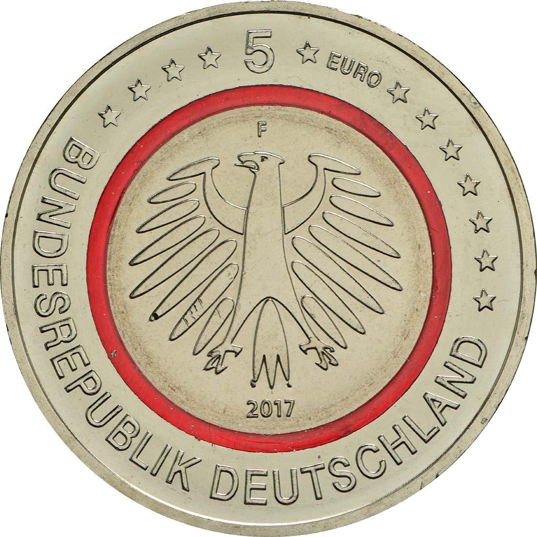 Rückseite:Deutschland : 5 Euro Tropische Zone  2017 bfr