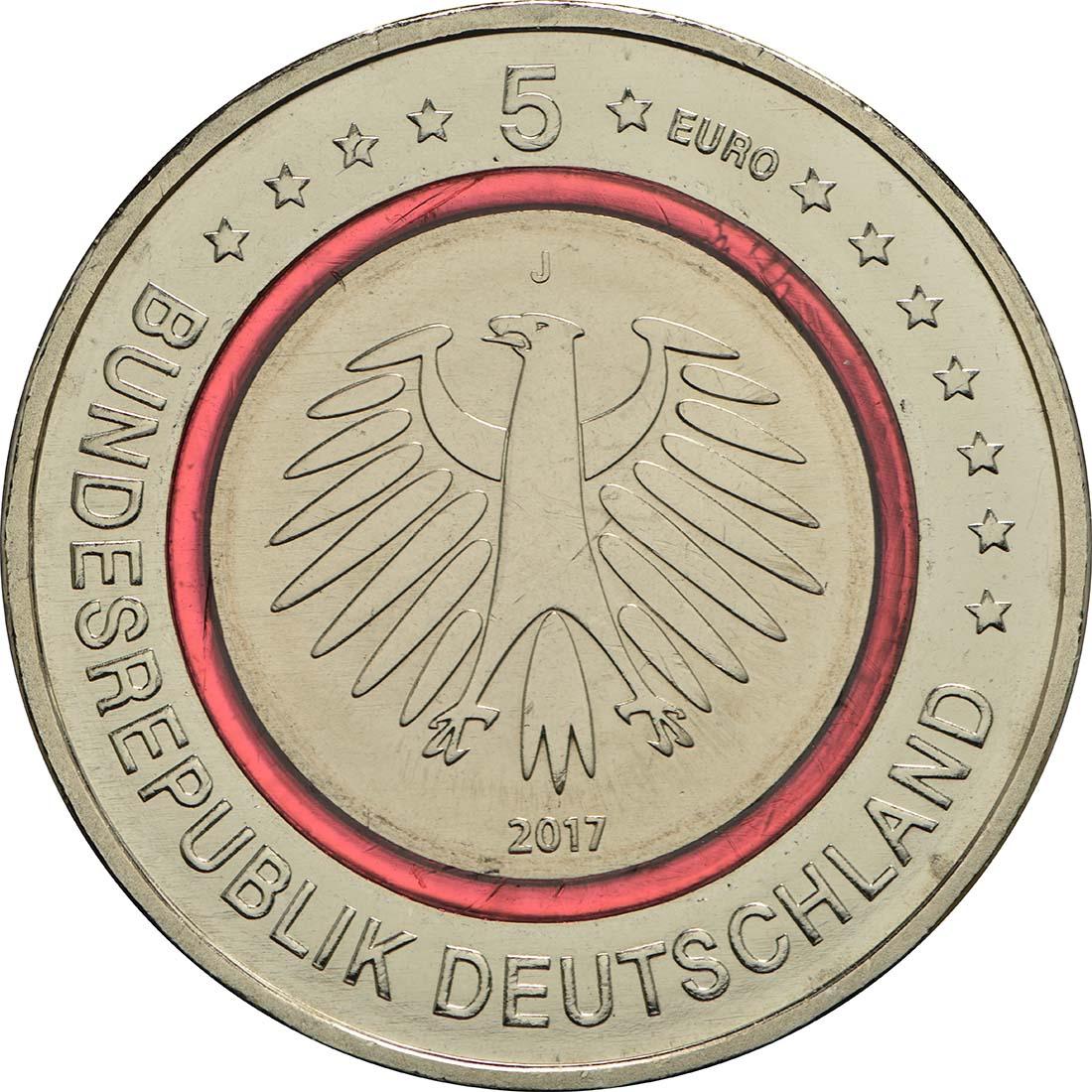 Rückseite :Deutschland : 5 Euro Tropische Zone Buchstabe unserer Wahl  2017 bfr