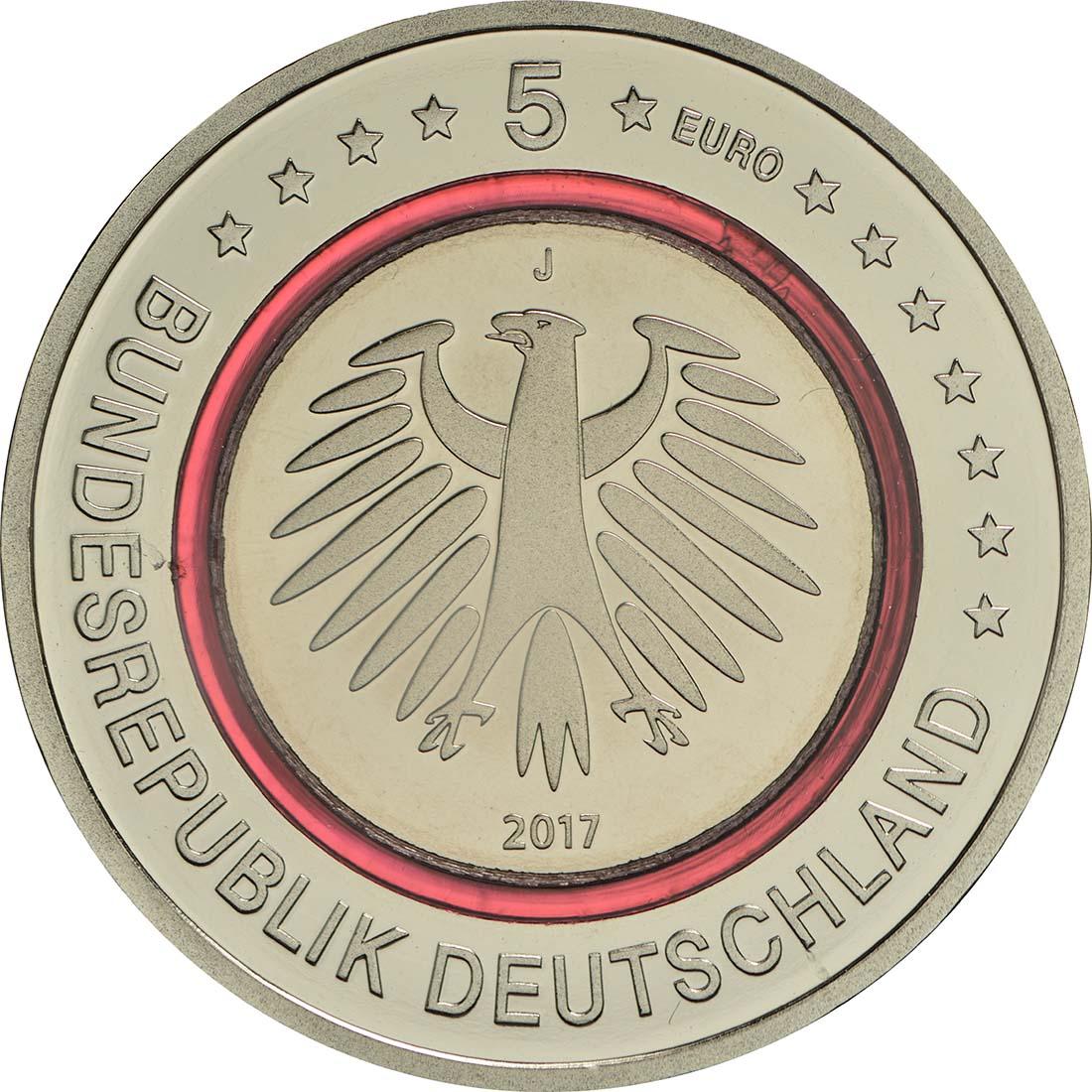 Rückseite :Deutschland : 5 Euro Tropische Zone Buchstabe unserer Wahl  2017 PP