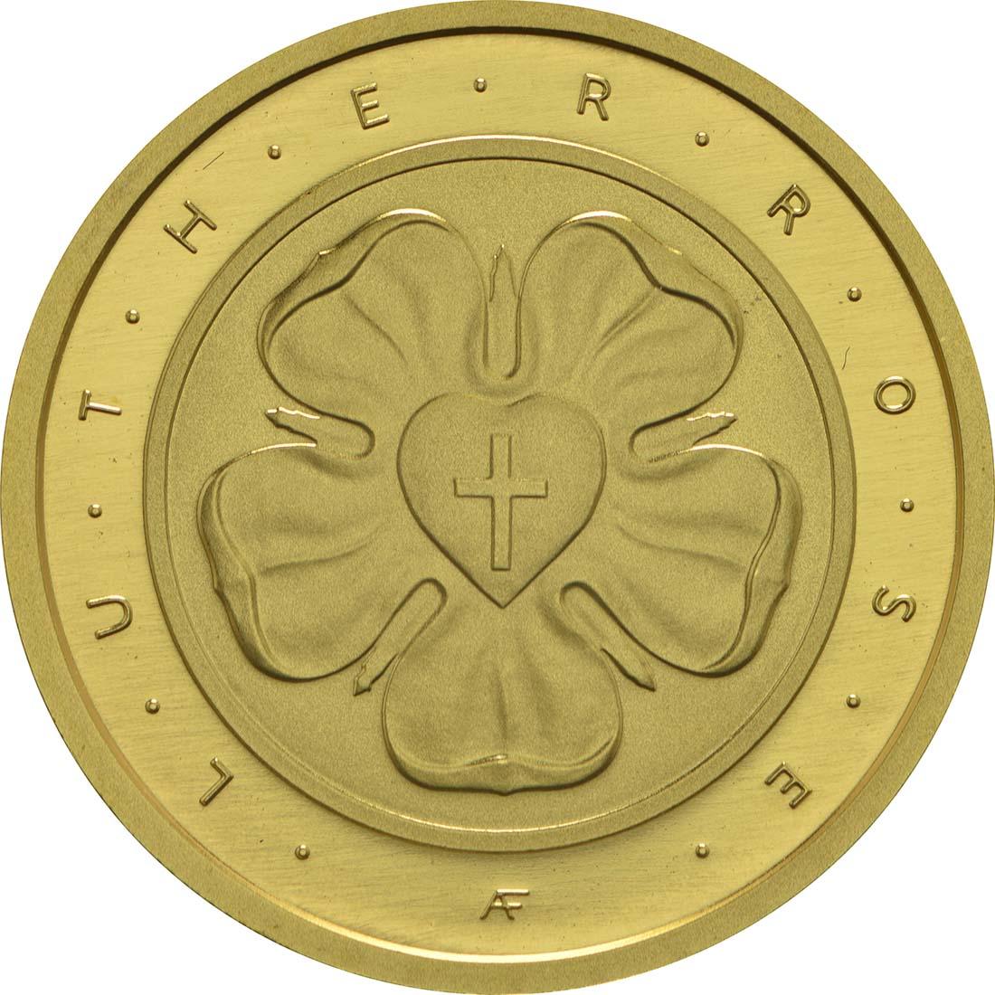 Vorderseite:Deutschland : 50 Euro Lutherrose  2017 Stgl.