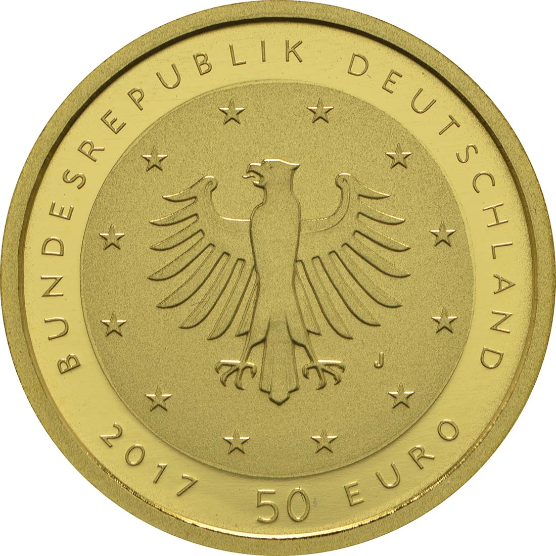 Rückseite :Deutschland : 50 Euro Lutherrose Buchstabe unserer Wahl  2017 Stgl.