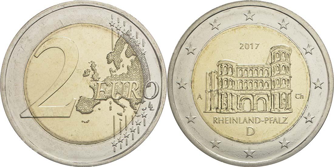 Lieferumfang:Deutschland : 2 Euro Rheinland-Pfalz - Porta Nigra  2017 bfr