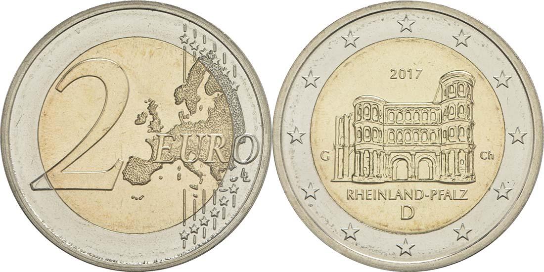 Deutschland : 2 Euro Rheinland-Pfalz - Porta Nigra  2017 bfr