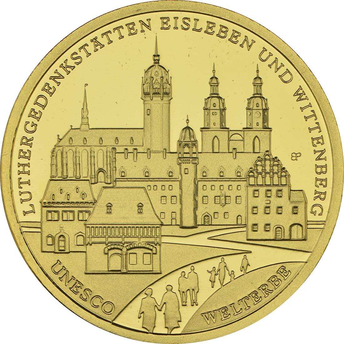 Vorderseite:Deutschland : 100 Euro Luthergedenkstätten Eisleben und Wittenberg  2017 Stgl.