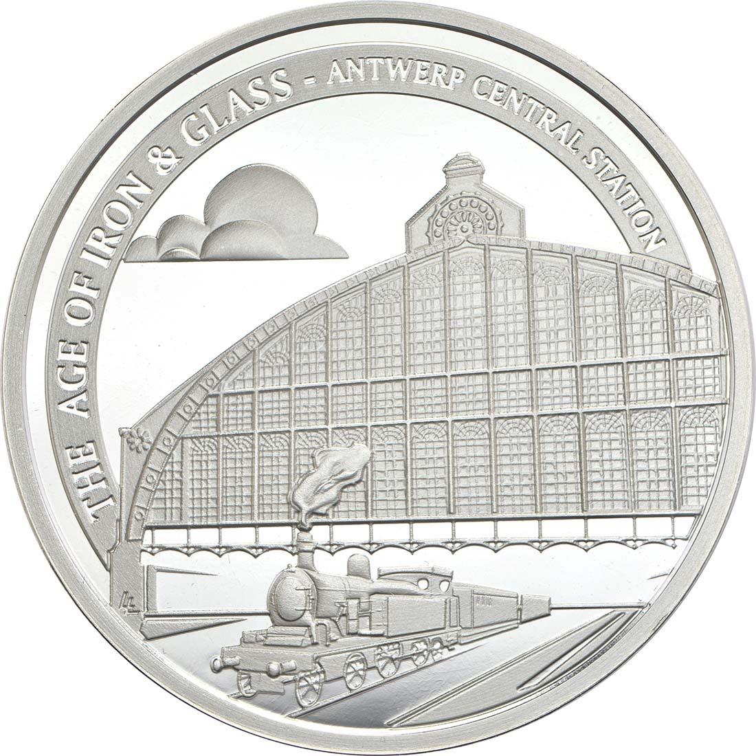 Vorderseite:Belgien : 10 Euro Hauptbahnhof von Antwerpen  2017 PP