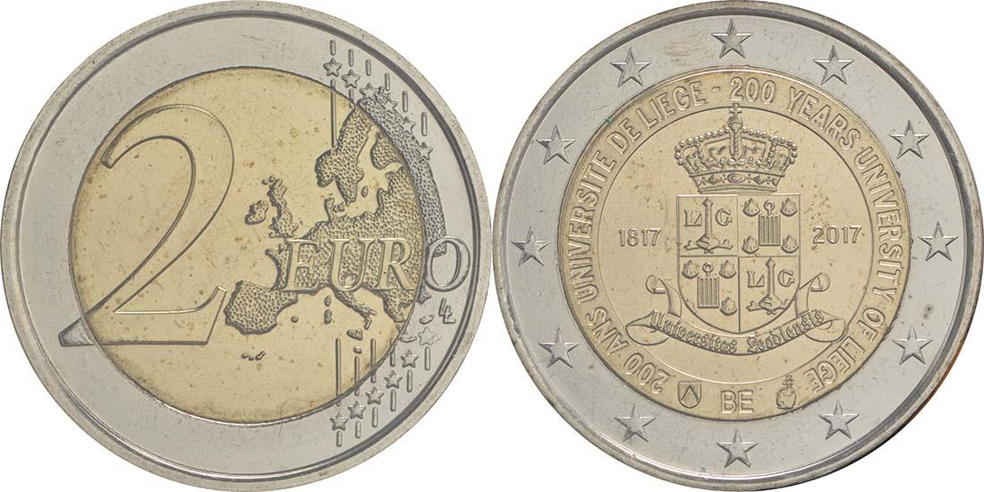 Lieferumfang:Belgien : 2 Euro 200 Jahre Universität zu Lüttich  2017 bfr