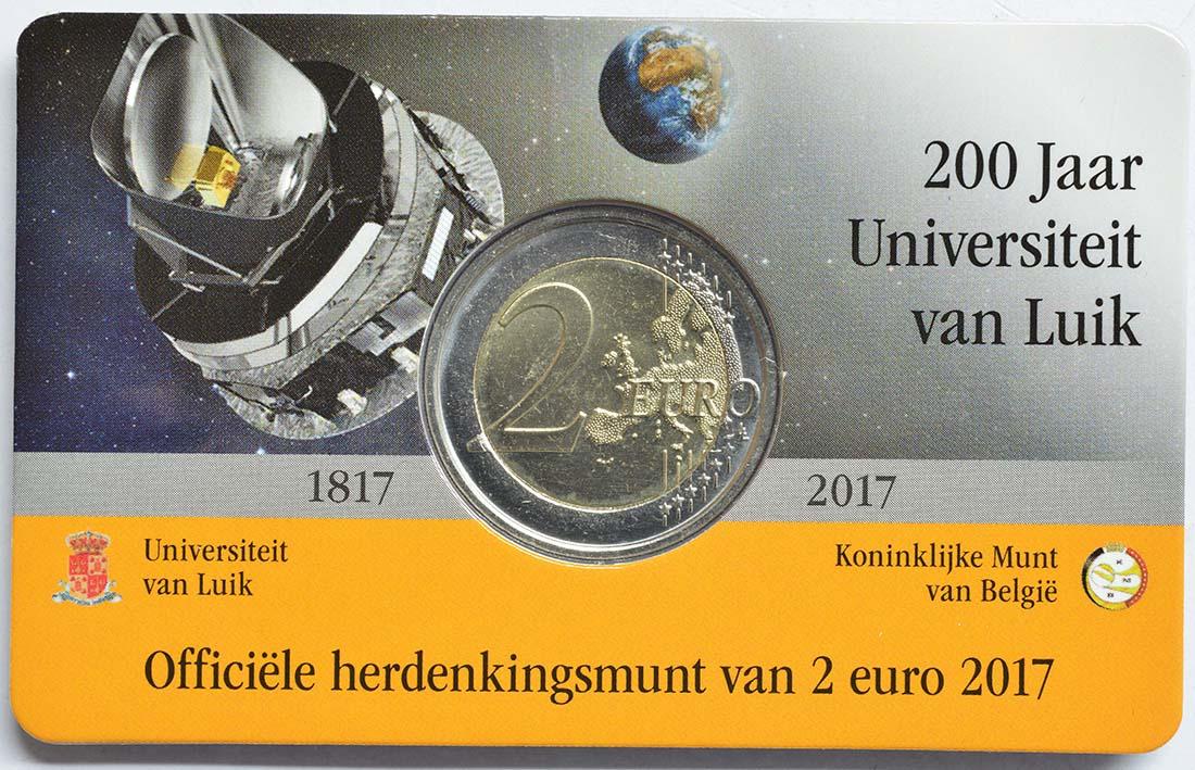 Zertifikat:Belgien : 2 Euro 200 Jahre Universität zu Lüttich  2017 Stgl.