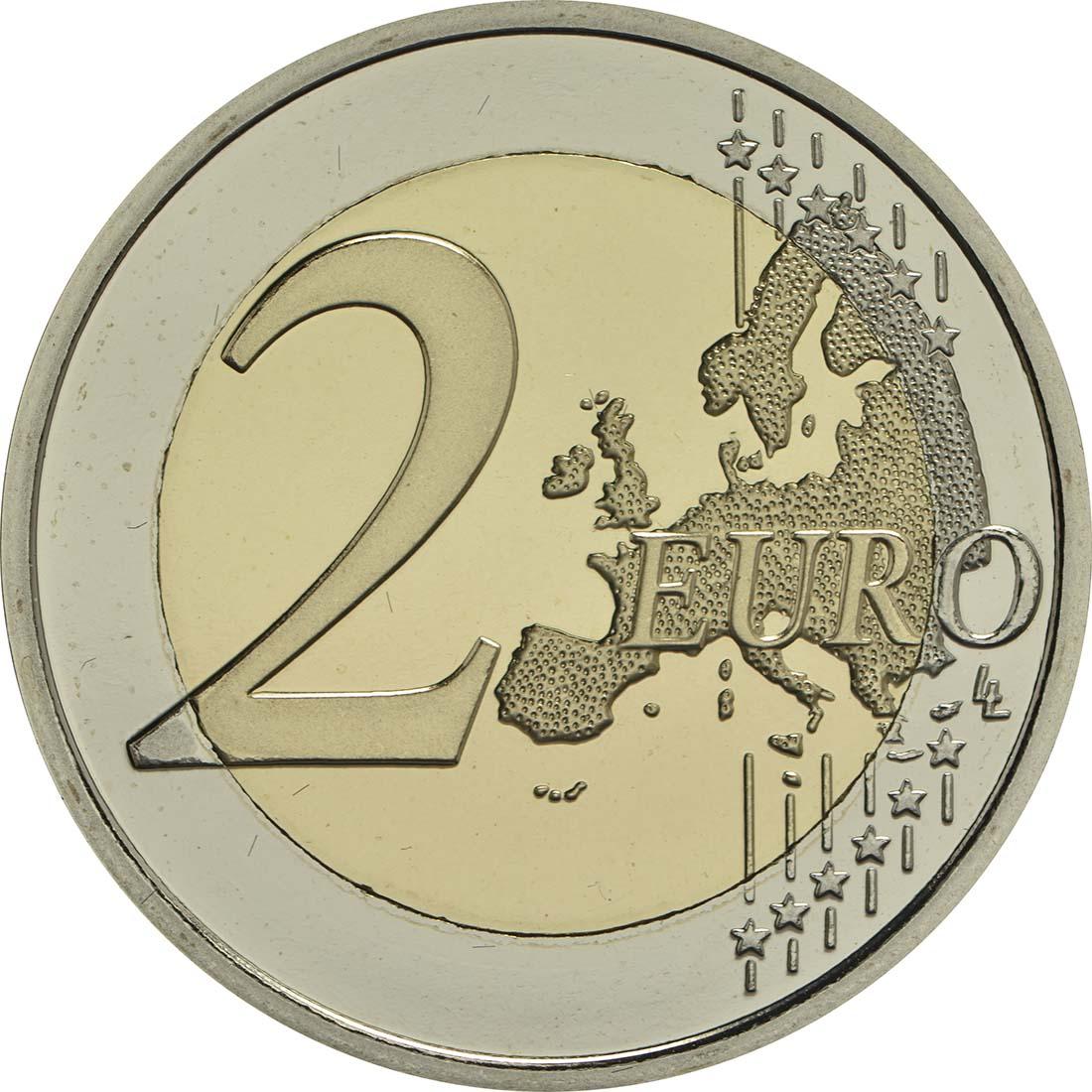 Vorderseite:Belgien : 2 Euro 200 Jahre Universität zu Lüttich  2017 PP