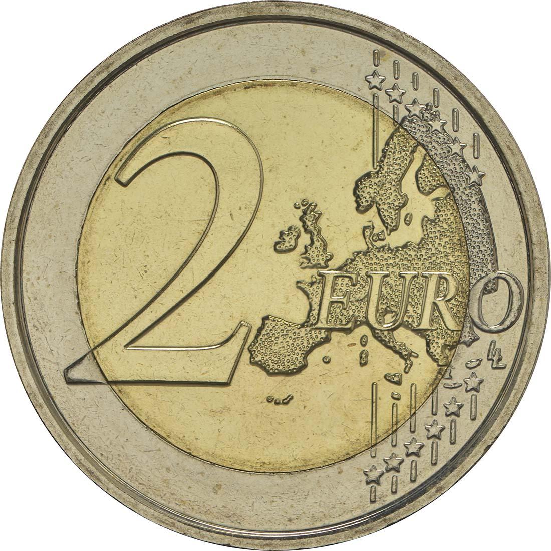 Vorderseite:Belgien : 2 Euro 200 Jahre Universität zu Gent  2017 bfr