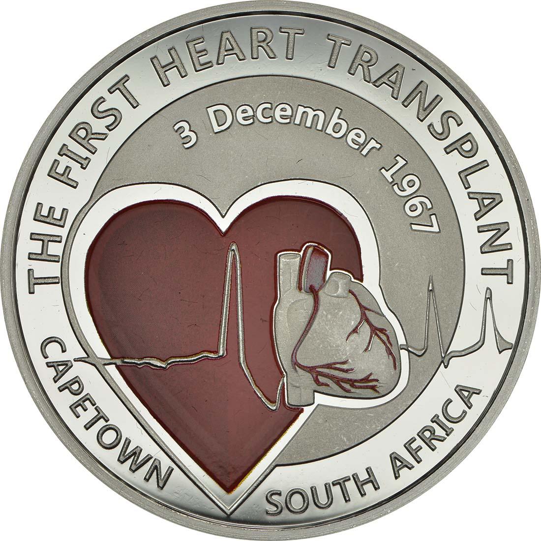 Vorderseite :Belgien : 5 Euro 50 Jahre erste Herztransplantation  2017 PP