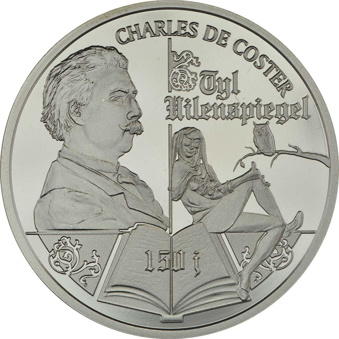 Vorderseite :Belgien : 10 Euro 150 Jahre Publikation über Till Eulenspiegel  2017 PP