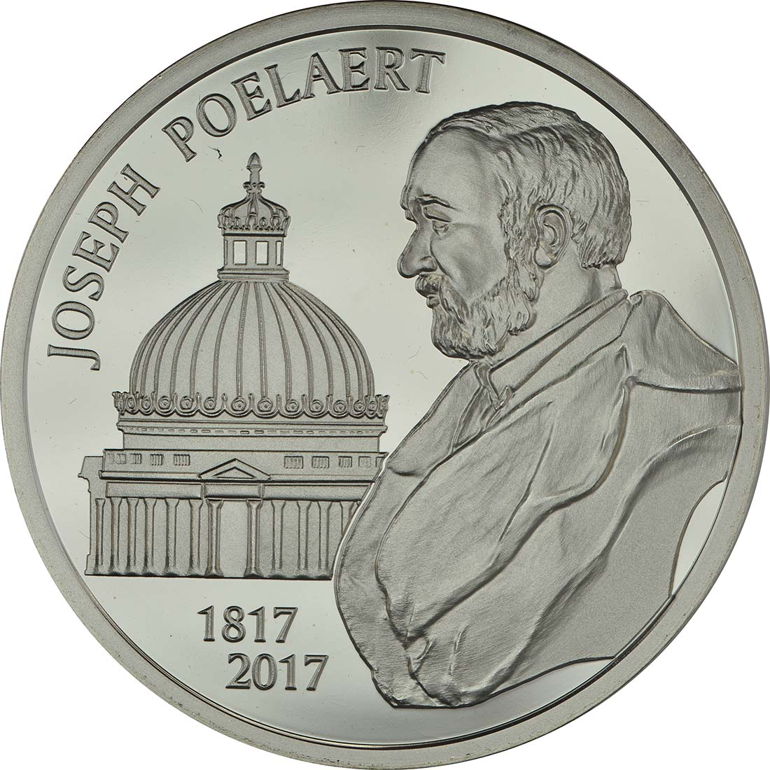 Vorderseite:Belgien : 20 Euro 200. Geburtstag von Joseph Poelaert  2017 PP