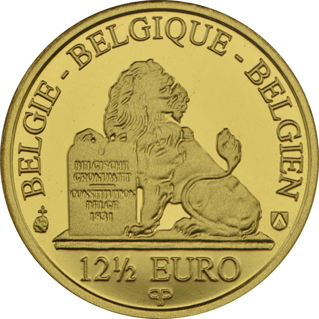 Rückseite :Belgien : 12,5 Euro Königin Marie - Hendrika  2017 Stgl.
