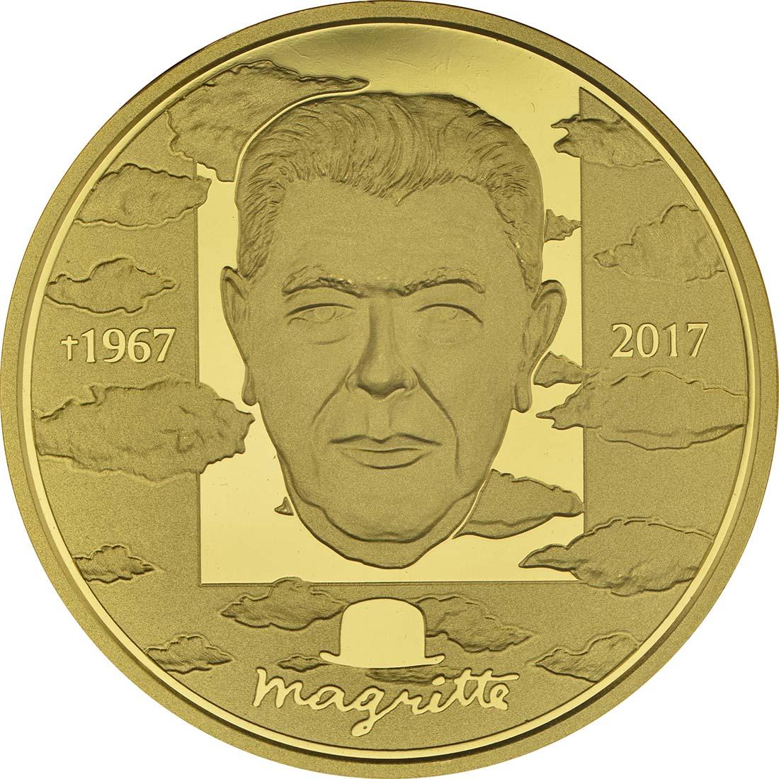 Vorderseite :Belgien : 100 Euro 50. Todestag von René Margritte  2017 PP