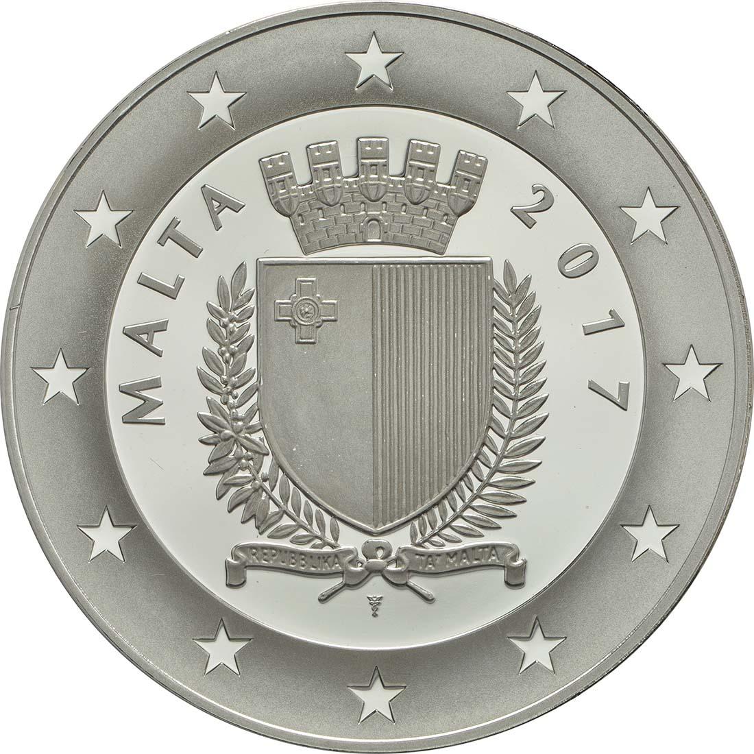 Rückseite:Malta : 10 Euro EU-Präsidentschaft  2017 PP