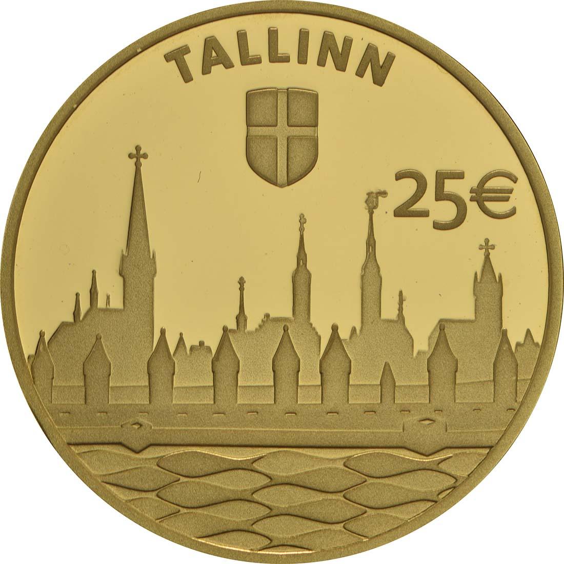Vorderseite:Estland : 25 Euro Hansestadt Tallinn  2017 PP