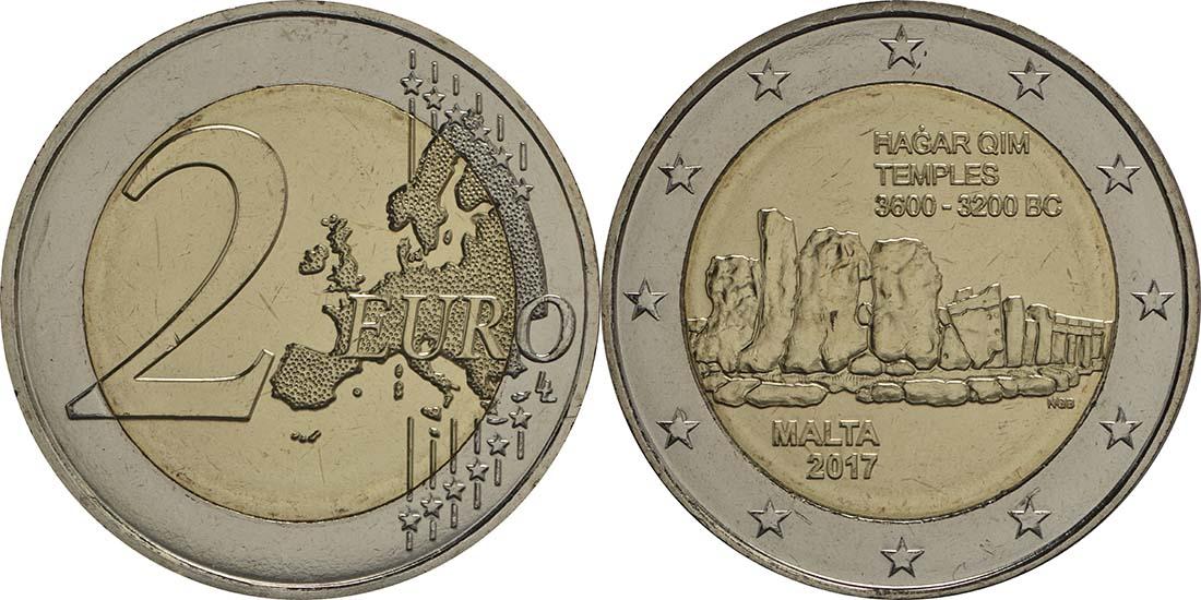 Malta : 2 Euro Hagar Qim  2017 bfr