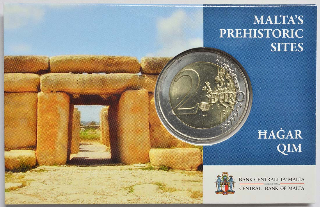 Lieferumfang:Malta : 2 Euro Hagar Qim  2017 Stgl.