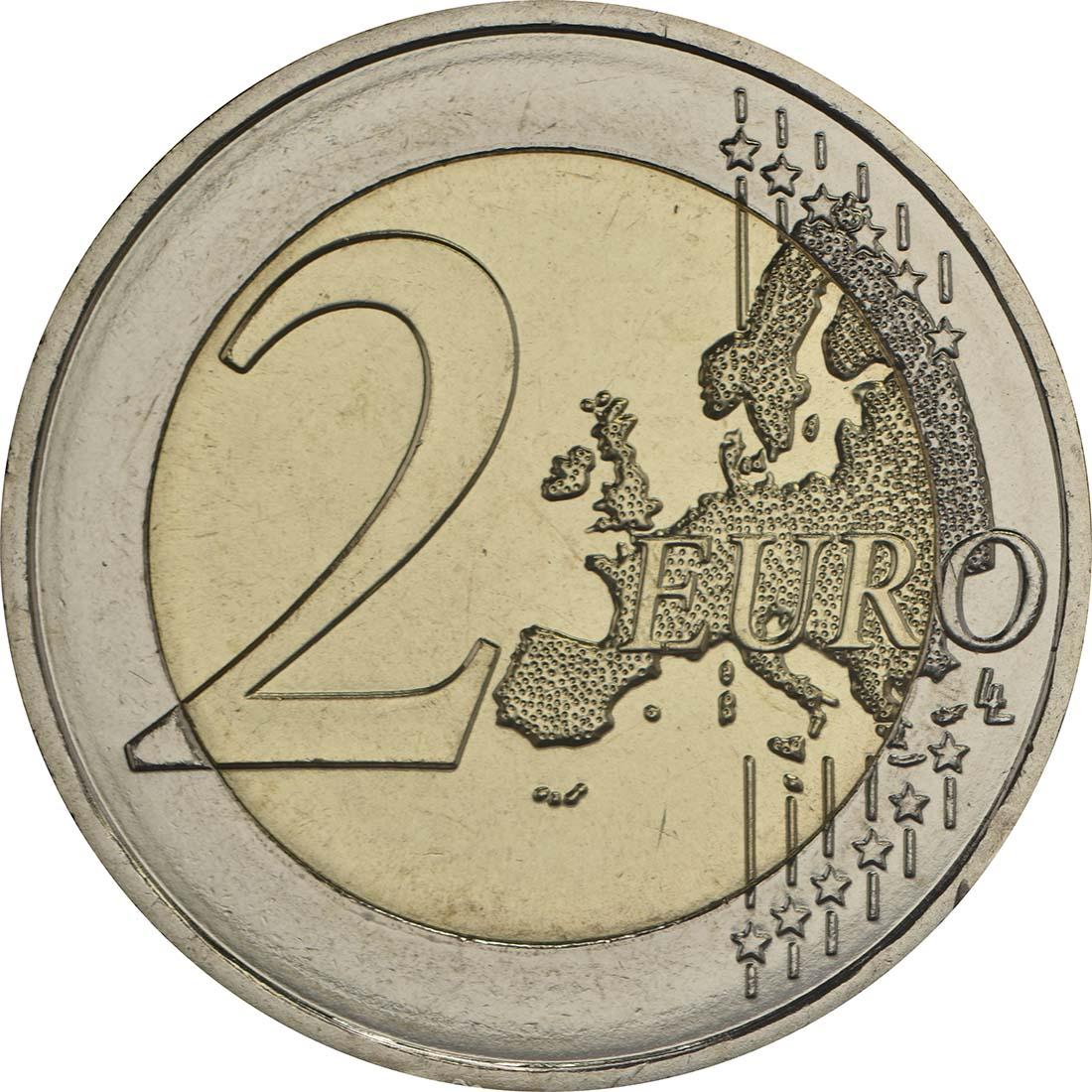 Vorderseite :Malta : 2 Euro Frieden  2017 bfr