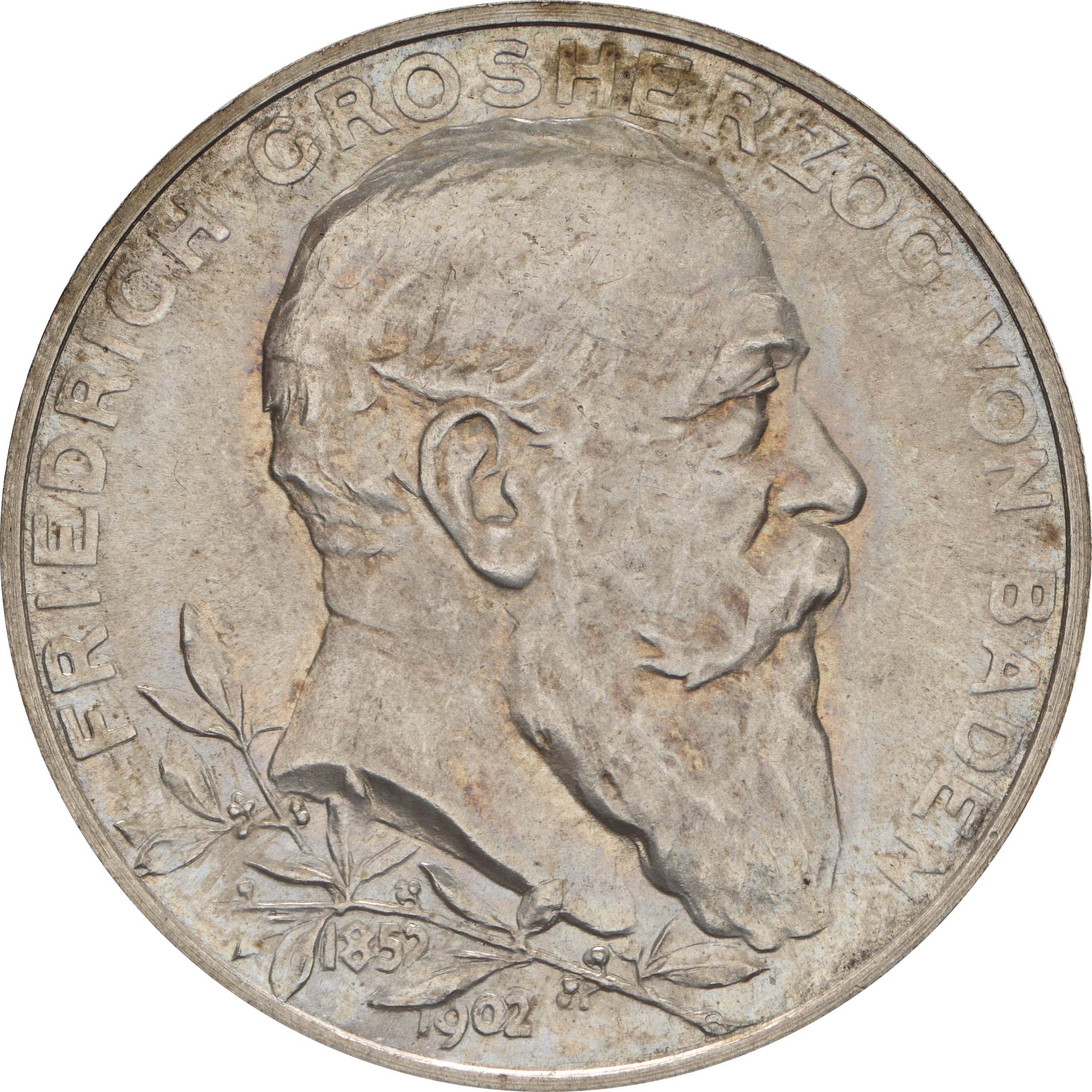 Vorderseite:Deutschland : 2 Mark Friedrich I.  1902 Stgl.