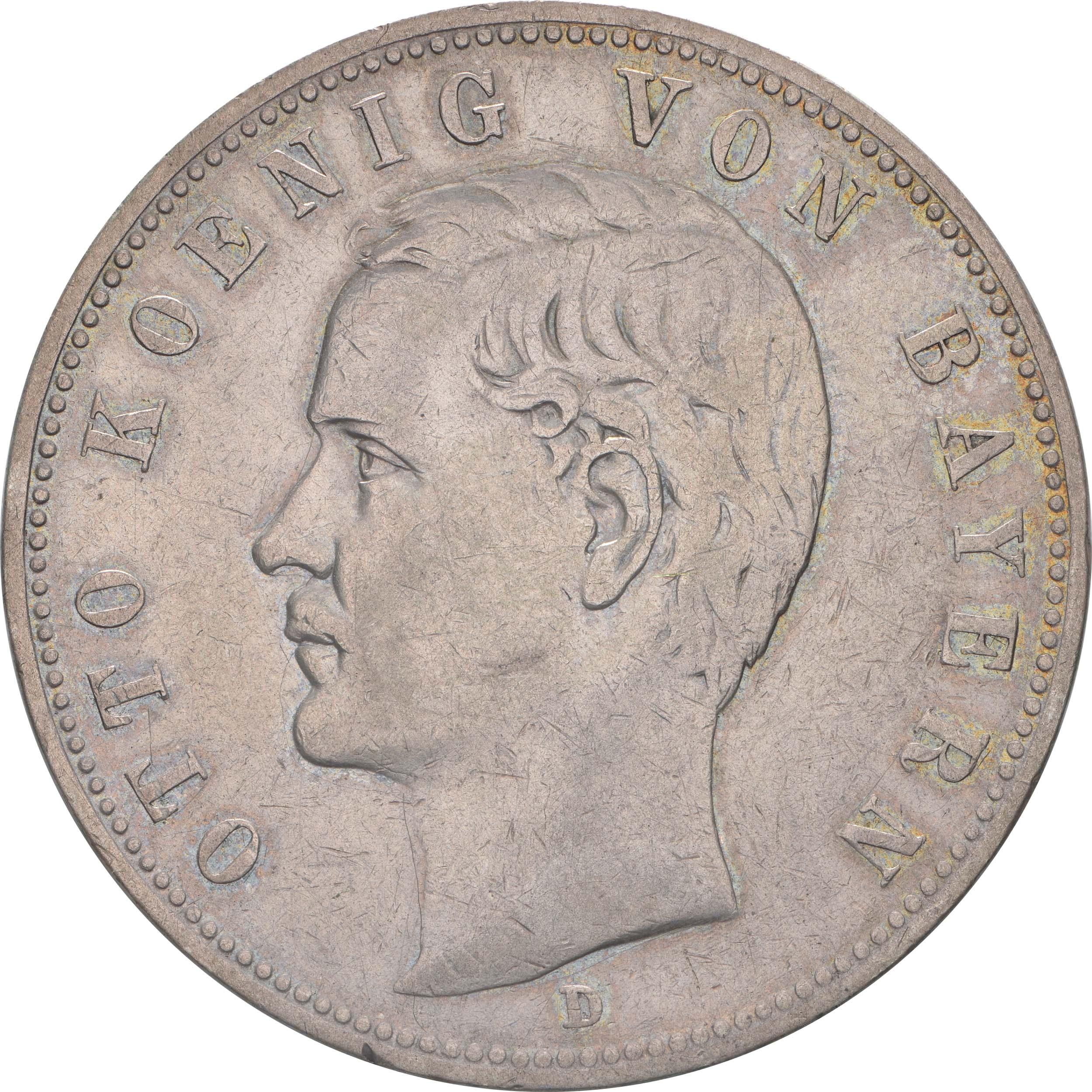 Vorderseite:Deutschland : 5 Mark Otto  1903 ss.