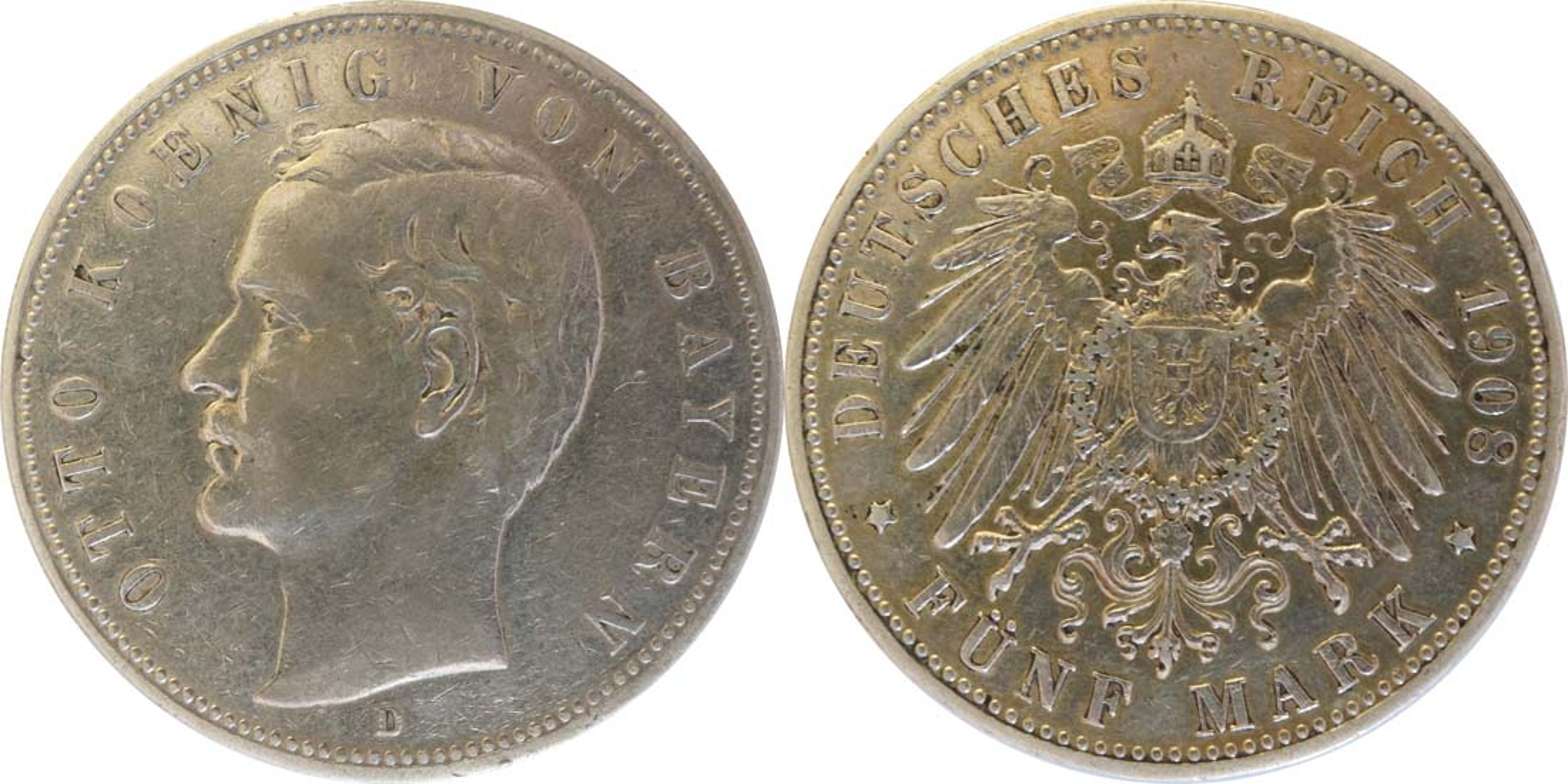 Übersicht:Deutschland : 5 Mark Otto  1903 ss.