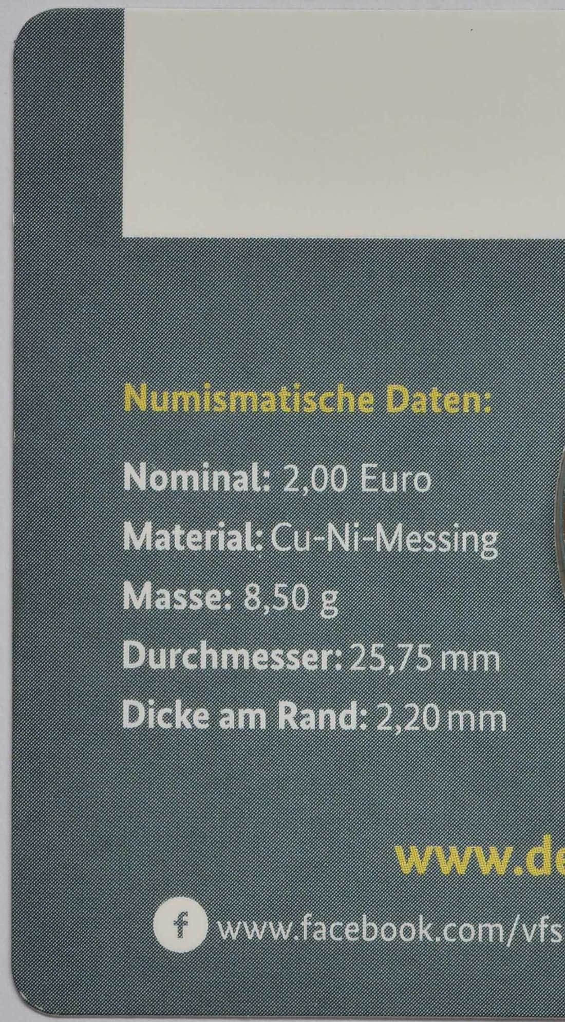 Zertifikat :Deutschland : 2 Euro Rheinland-Pfalz - Porta Nigra  2017 Stgl.