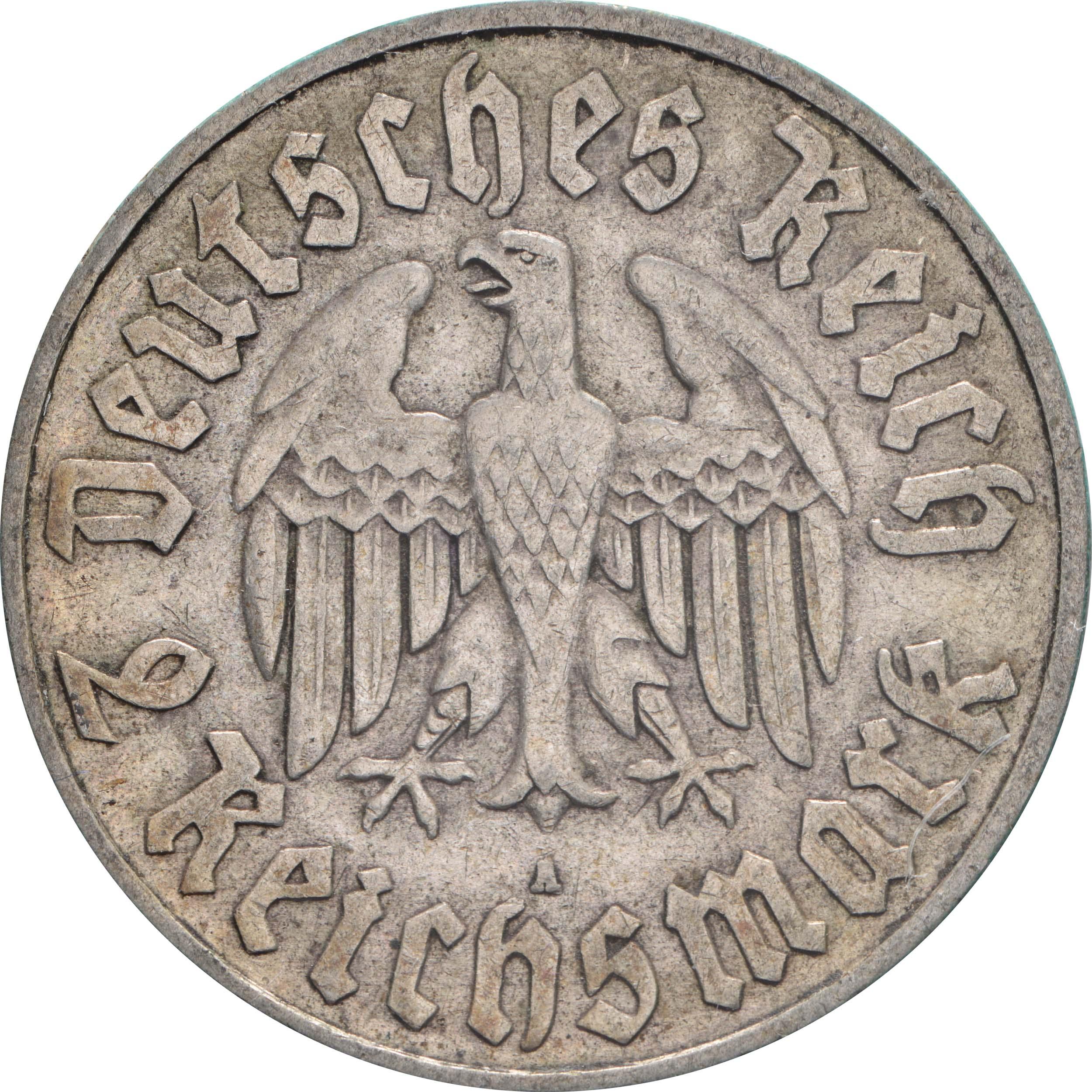 Rückseite :Deutschland : 2 Reichsmark Luther  1933 ss.