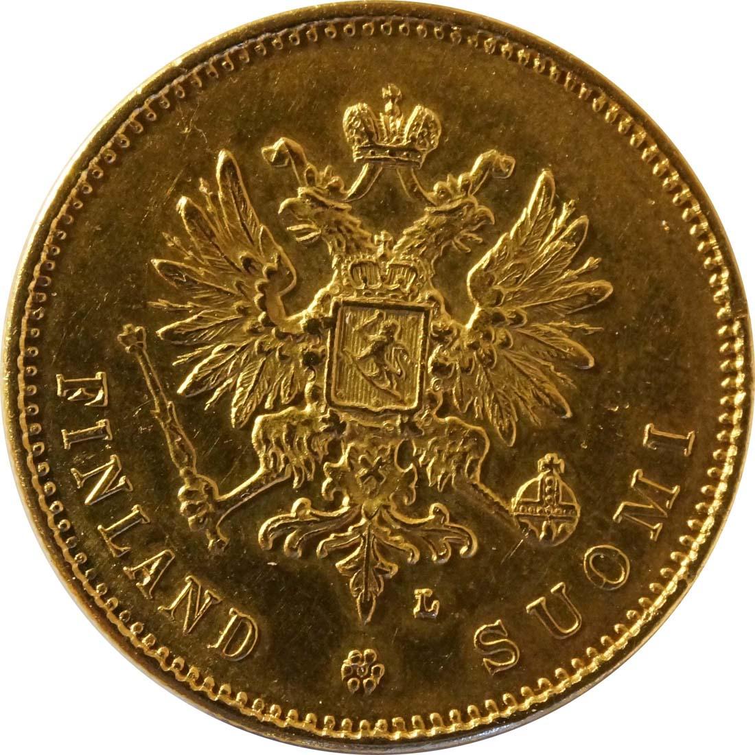 Rückseite:Finnland : 20 Markkaa   1904 vz/Stgl.
