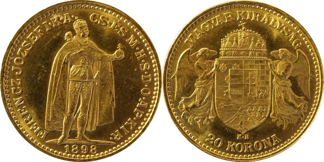 Ungarn : 20 Korona   1898 vz.