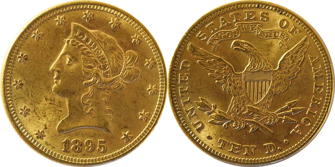 Lieferumfang:USA : 10 Dollar Kopf  1895 vz.